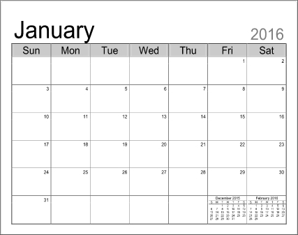 Printable Calendar Templates with Fill In/pribnt Out Calendar Image