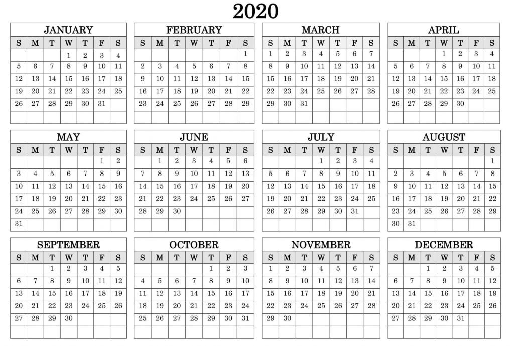 Printable Calendar Year 2020 Holidays Fillable Pdf - Set with regard to Fillable 12 Month Calendar