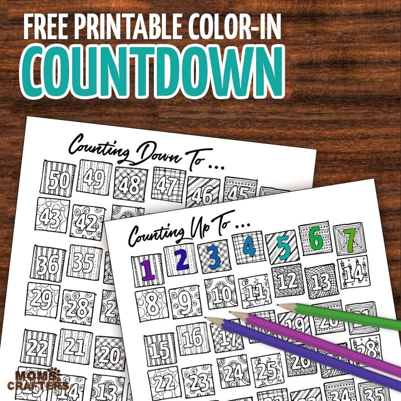 Printable Countdown Calendar And Progress Tracker - Color-In inside Free Count-Down Calendar Printable