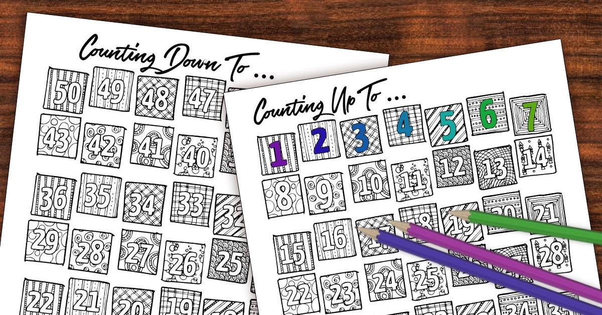 Printable Countdown Calendar And Progress Tracker - Color-In with Free Count-Down Calendar Printable