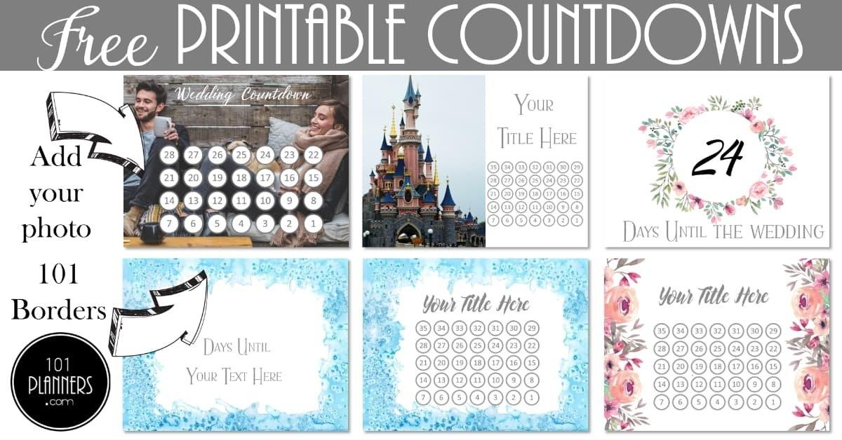 Printable Countdown Calendar with regard to Free Count-Down Calendar Printable