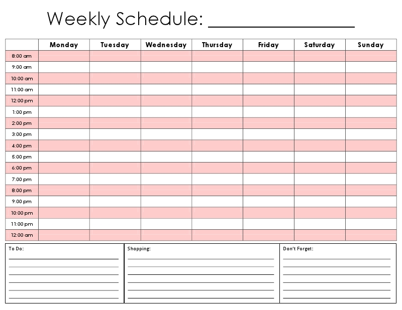 Printable Daily Hourly Schedule Template | Schedule Planner regarding Conference Room Scheduling Caldendar Printable Pdf Image
