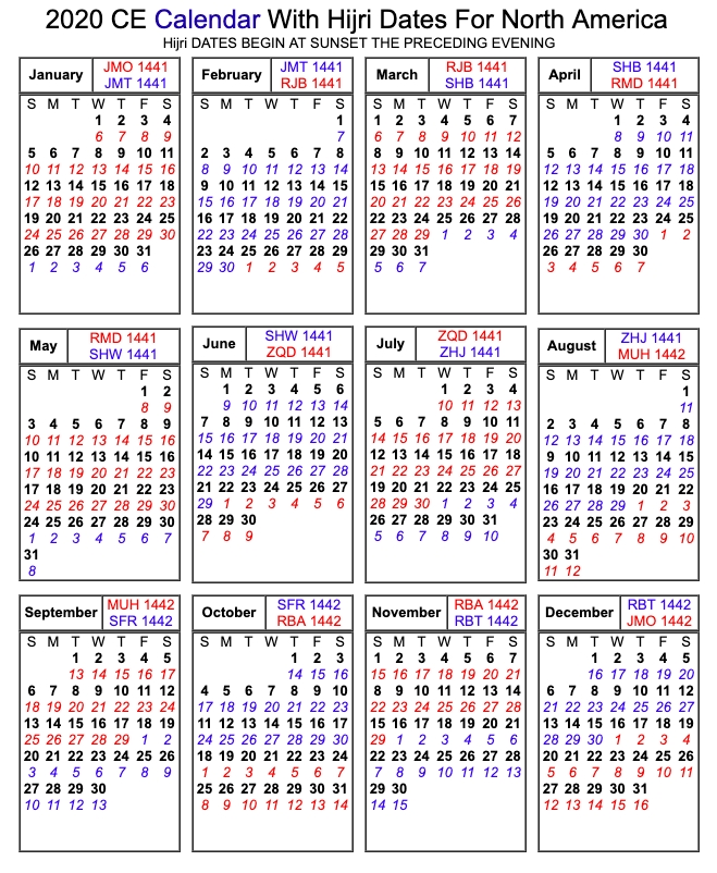 Printable Islamic 2020 Calendar | Hijri Calendar, Islamic intended for Hijri Calendar