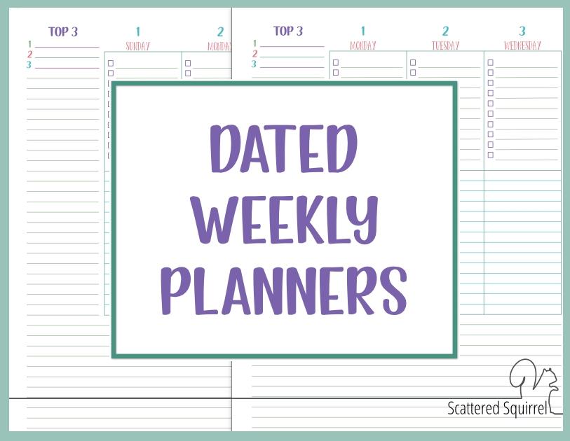 Printable Planner Bundles - Scattered Squirrel in Scattered Squirrel 2 Page Month Happy Planner