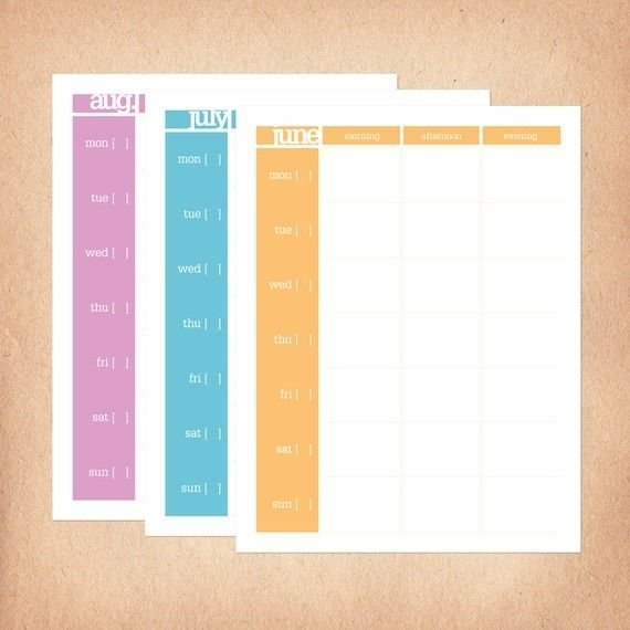 Printable Weekly Calendar With Color Coded Months with Color Coded Calendar Months