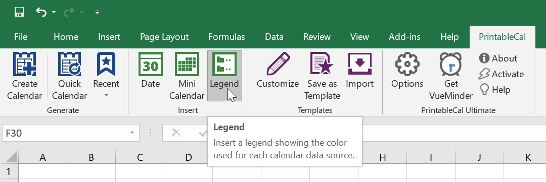 Printablecal | Insert A Color-Coded Legend with regard to Color Coded Excel Calendar