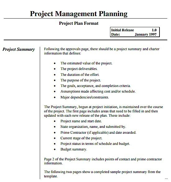 Project Cost Management Plan Templates for Project Management Plan Sample Document