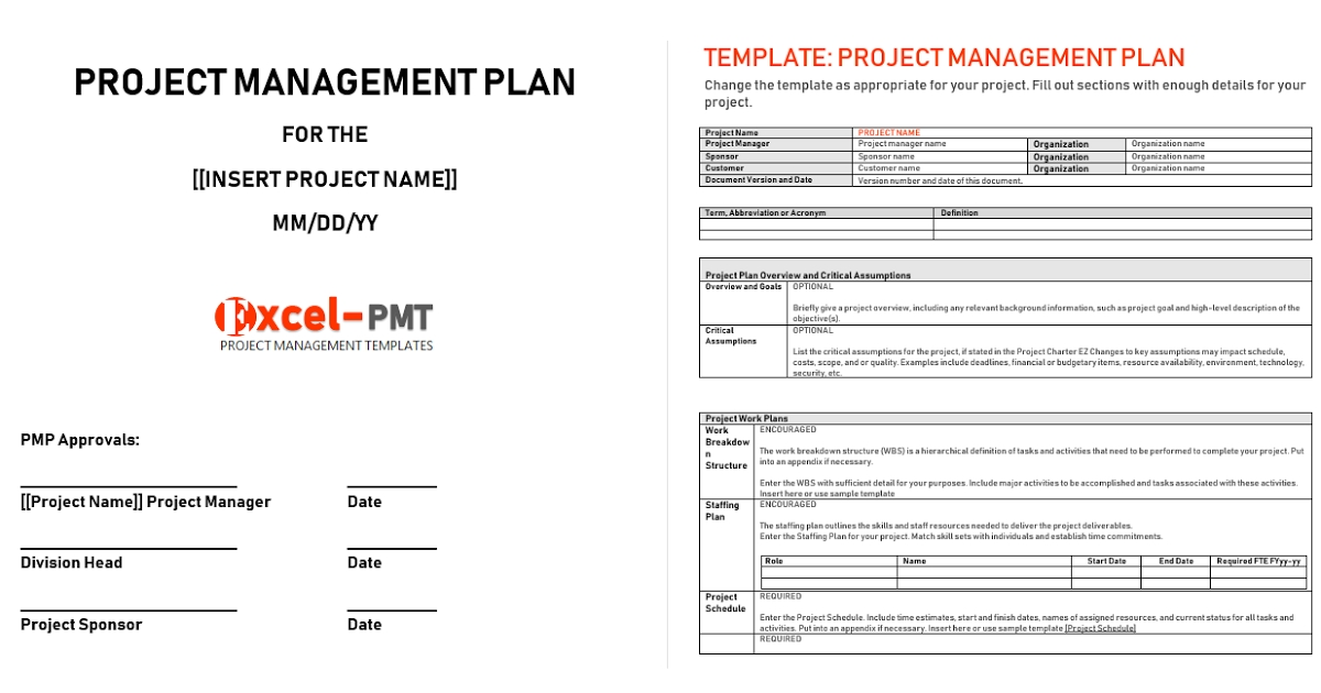 Project Management Plan Example & Template - Project within Project Management Plan Sample Document