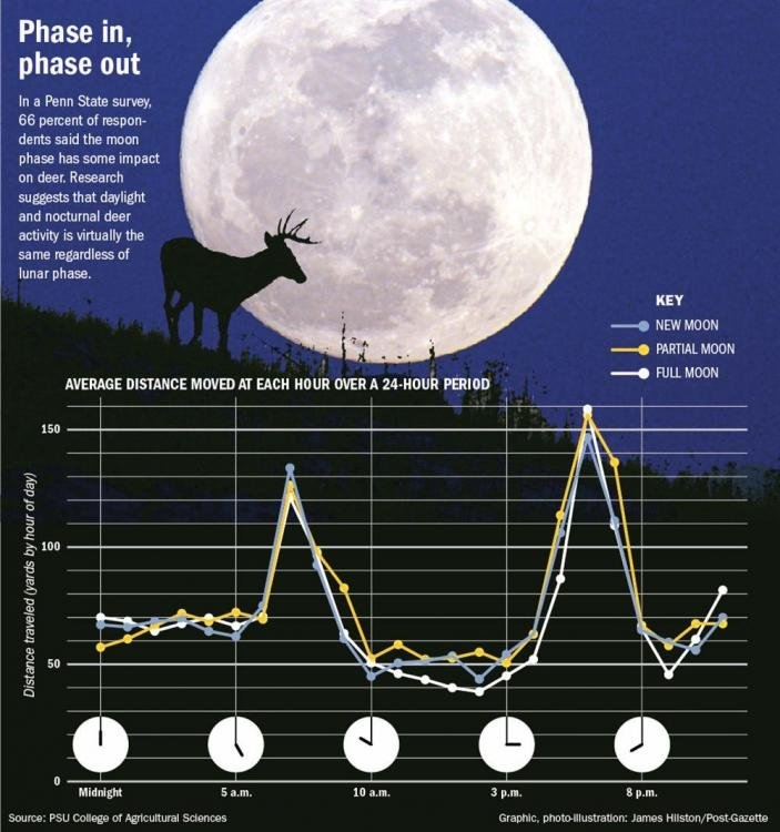 Questioning The Moon - Page 2 - Deer Hunting - Nj Woods & Water intended for Moon Phase Deer Activity