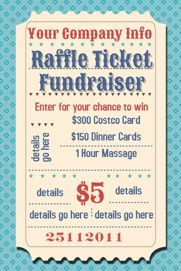 Raffle Flyer Poster Template. | Fundraiser Flyer, Raffle with Lottery Ticket Fundraiser Template