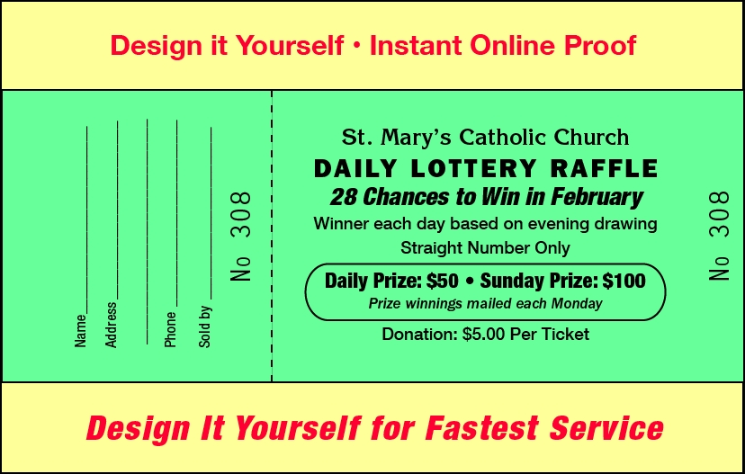 Raffles For Less – Raffles For Less inside Daily Number Lottery Fundraiser Tickets
