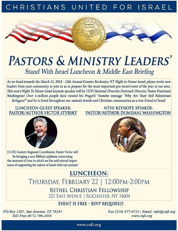 Rochester, Ny - Pastor And Ministry Leaders' Luncheon with Free Time Rochester Ny Photo