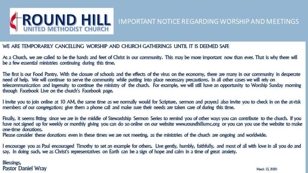 Round Hill United Methodist Church inside March Dates Of Interest To The United Methodist Church Photo