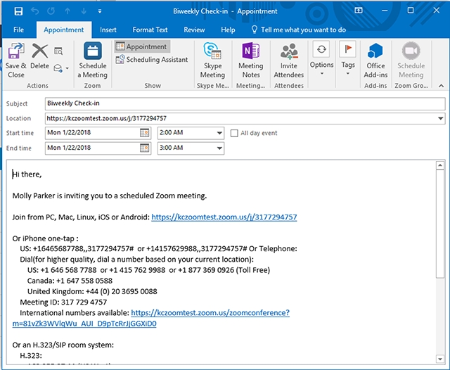 Schedule Meetings In Zoom Rooms (Outlook) – Zoom Help Center with Calendar Invite Example Outlook Graphics