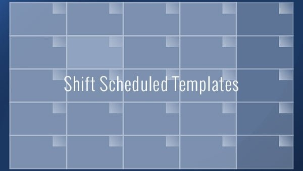 Shift Schedule Template - 20+ Free Word, Excel, Pdf Format with regard to Free Monthly Shift Schedule Image