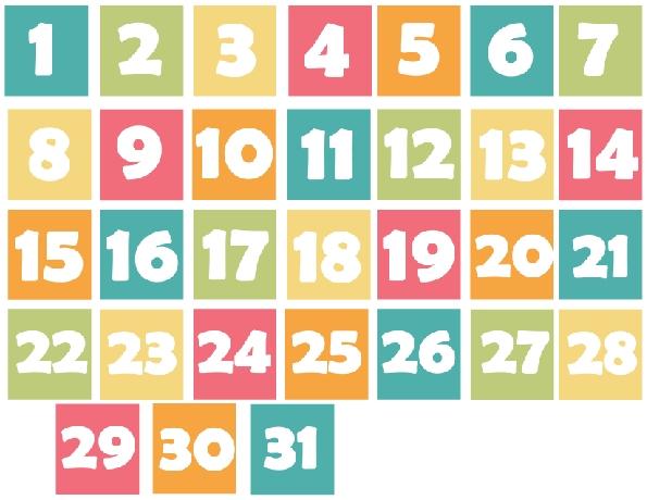 Spring Inspired Calendar Days Printable | Printable Calendar with Printable Calendar Days Image