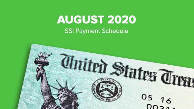 Ssi Social Security Benefits Payment Schedule: August 2020 inside Does Social Security Pay In August For July? Photo