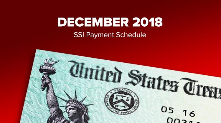 Ssi Social Security Benefits Payment Schedule: December 2018 regarding August Ssi Payment Calendar Image