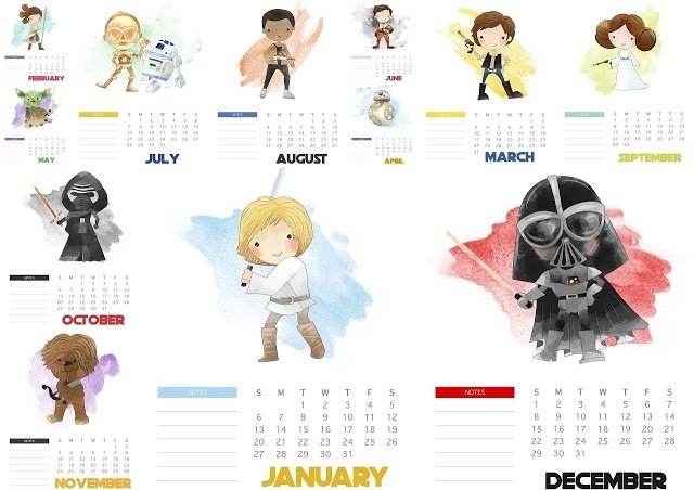 Star Wars: Free Printable 2020 Calendar. - Oh My Fiesta! For throughout Printable Star Wars Calendar