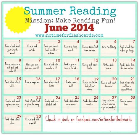 Summer Reading Calendar - Free Printables | Reading for Summer Reading Calendar Image