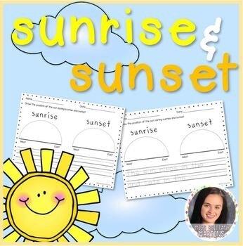 Sunrise Sunset Worksheets & Teaching Resources | Tpt pertaining to Blank Sunrise/sunset Chart Pdf Photo