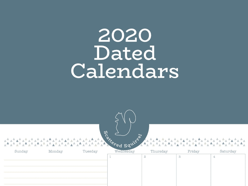 The Dated 2020 Calendars Are Ready! - Scattered Squirrel for Scattered Squirrel 2 Page Month Happy Planner Graphics