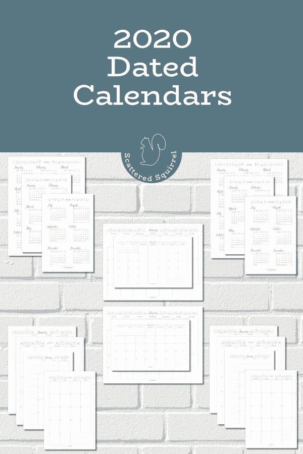 The Dated 2020 Calendars Are Ready! - Scattered Squirrel within Small Pocket Size Calendar Booklet Free Template Image