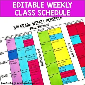 The Easiest Way To Organize Your Week! Download This Free intended for Color Coded Schedule Template Photo