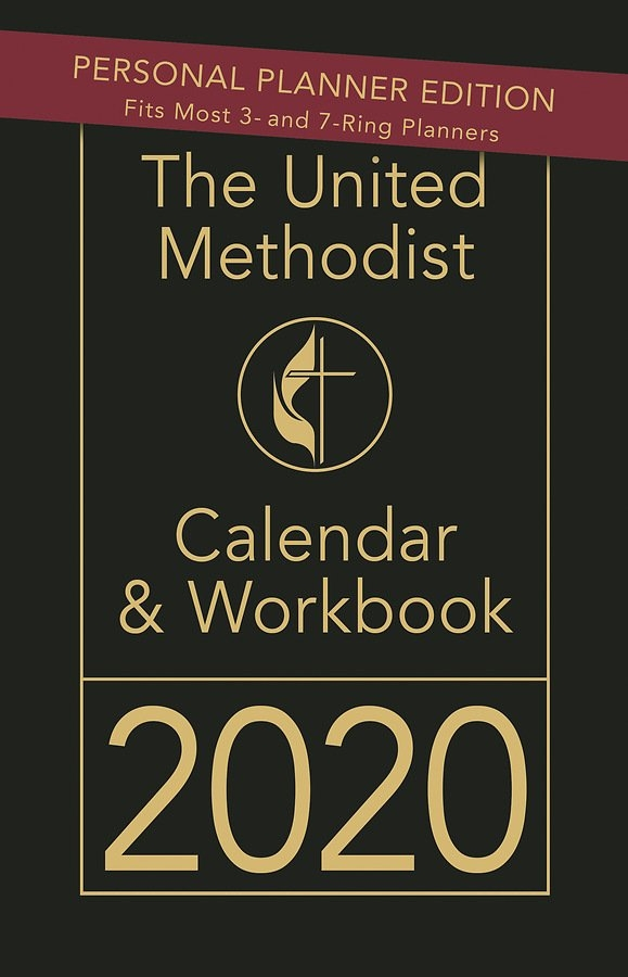 The United Methodist Calendar & Workbook 2020 - Personal Planner Edition with regard to Methodist Paraments 2020