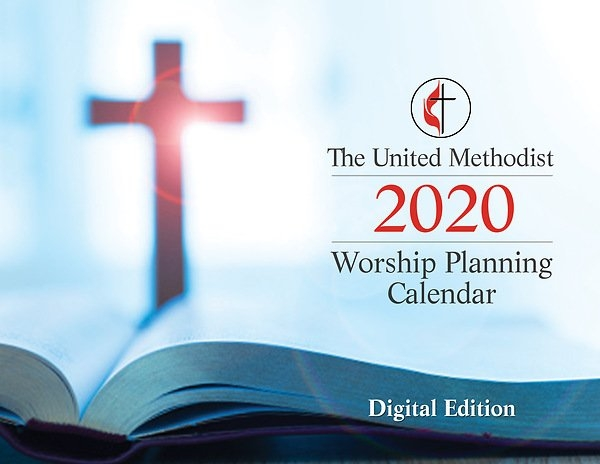 The United Methodist Worship Planning Calendar 2020 - Digital Edition in Methodist  Parament Colors Image