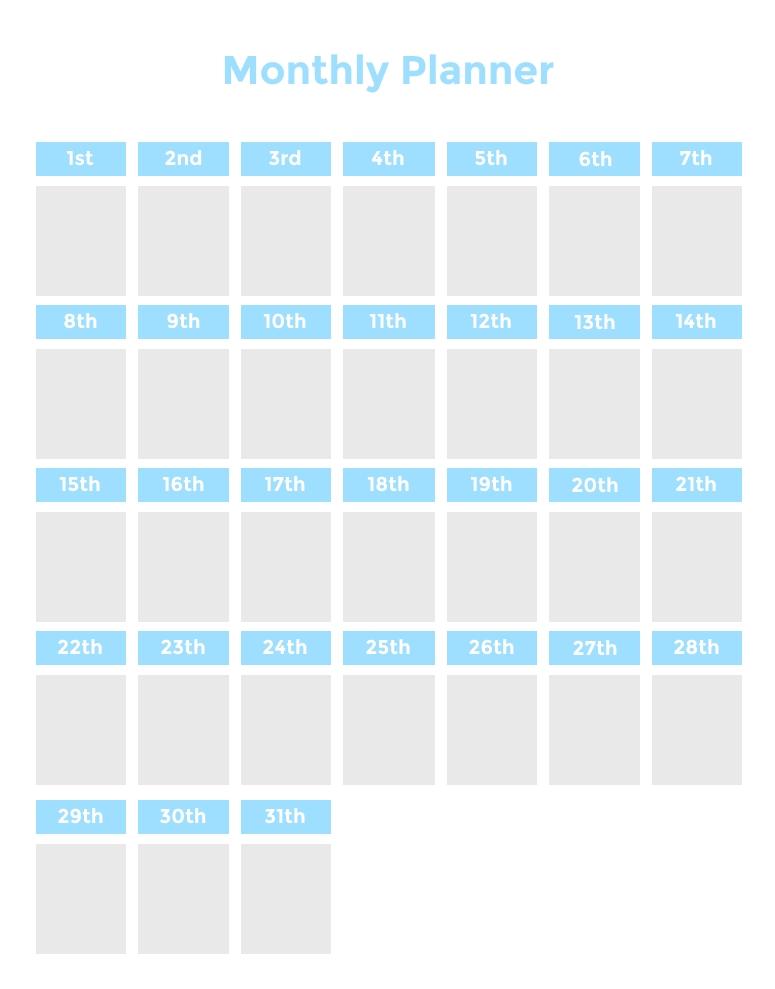 Time Blocking Planner (+ 9 Free Time Blocking Templates) for Large Block Calendar Template