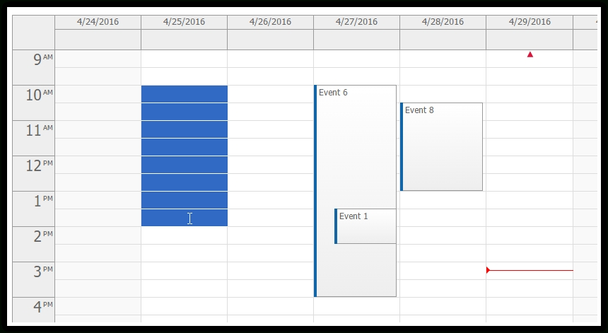 Time Range Selecting - Event Calendar | Daypilot inside Calendar  With Time Photo