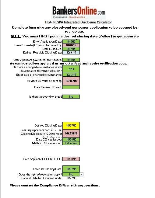 Trid Date Calendar | Bankers Online regarding Trid Holiday Dates 2020