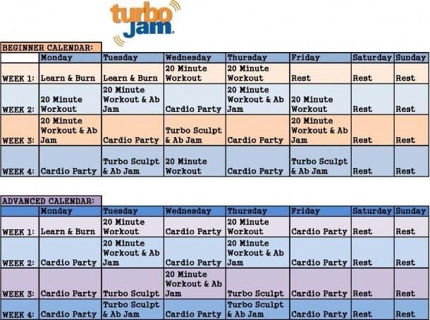 Turbo Jam Calendar #looseweight In 2020   Turbo Jam, Chalene in Turbo Jam Calendar Download Photo