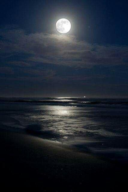 Una Noche En La Playa Con La Hermosa Compañía De La Luna intended for Foto De Lbluna Image