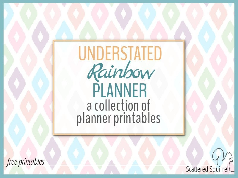 Understated Rainbow Planner Printables inside Understated August Calendar Image