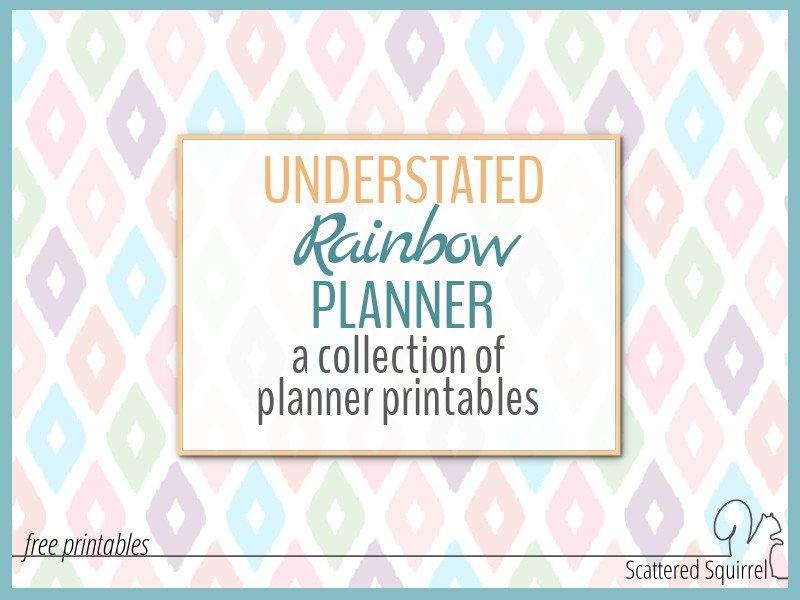 Understated Rainbow Planner Printables within Understated Calendar Photo