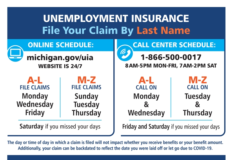 Unemployment Benefits And Paid Leave | Detroit Regional Chamber with State Of Michigan Payroll Schedule