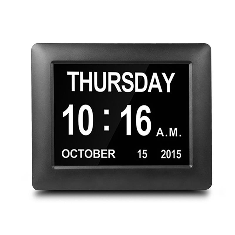 Us $34.37 26% Off|Digital Day Clock Led Calendar Dementia Alarm Time Date  Month Year Memory Loss Lectronic Extra Large Digital Clock|Alarm Clocks| - throughout Clocks For Dementia Graphics