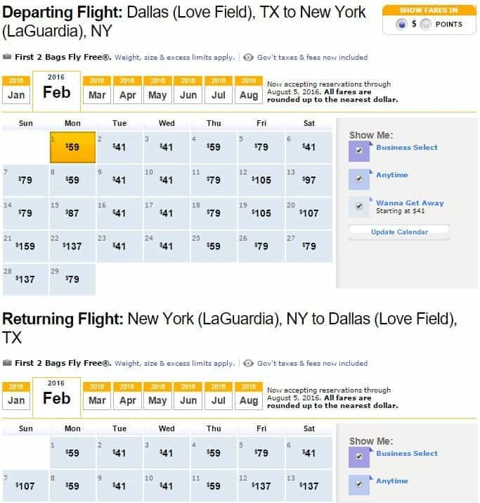 Use The Fare Calendar To Find The Cheapest Flights On for Swa Low Fare Calendar