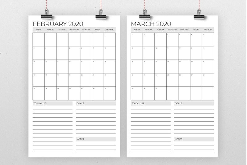 Vertical 11 X 17 Inch 2020 Calendar Templaterunning With for 11X17 2020 Calendar Pdf Image