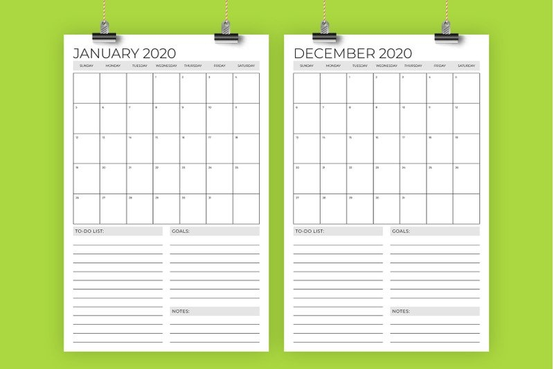 Vertical 11 X 17 Inch 2020 Calendar Templaterunning With within 11 By 17 Calendar Template Photo