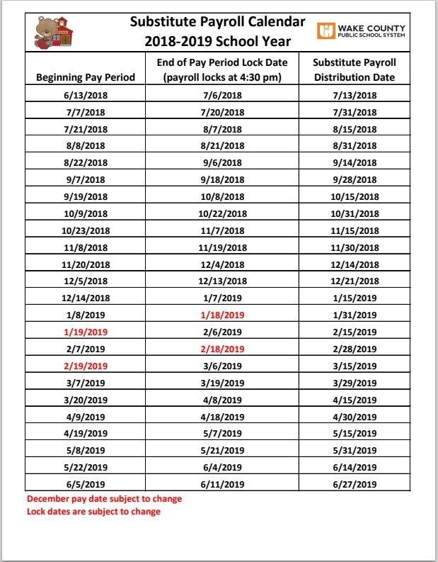 Wcpss Pay Period Calendar 2020 | Pay Period Calendar 2020 for Wcpss Calendars Photo
