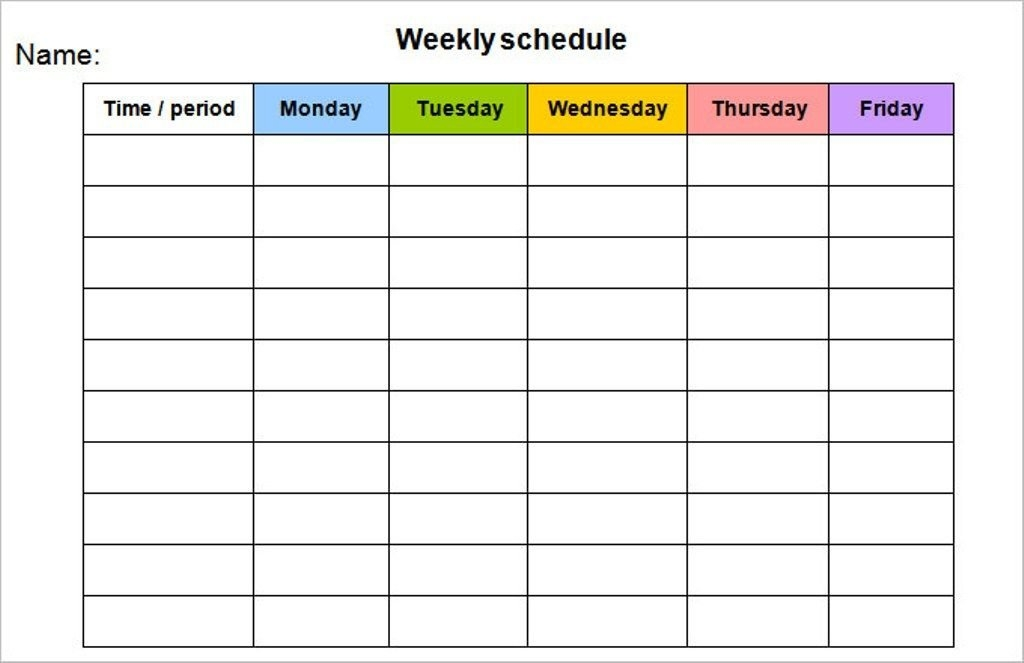 Weekly Calendar Template Monday To Friday #weeklyplanner throughout Weekly Calendar Printable Monday To Sunday Graphics