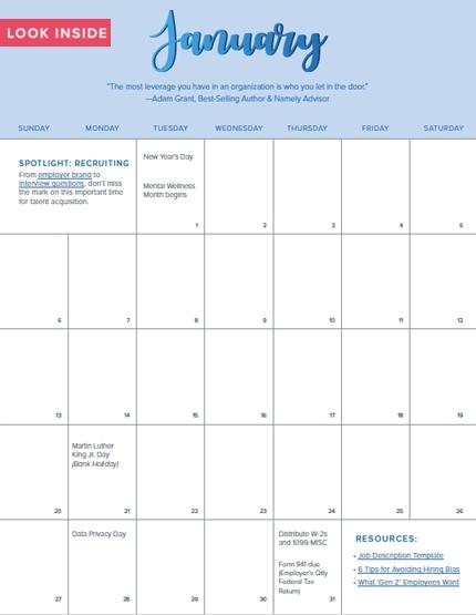 Your 2020 Hr Calendar with regard to Hr Calender