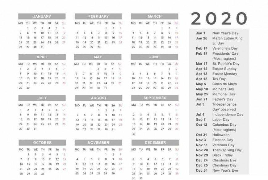2020 Biweekly Payroll Calendar Template ~ Addictionary intended for Adp Employee Calendar Template
