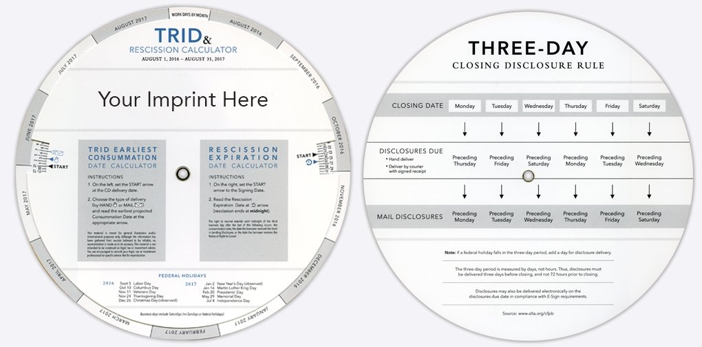 American Slide Chart - Perrygraf - Slide Charts, Wheel with regard to 3 Day Closing Disclosure Rule Calendar Graphics