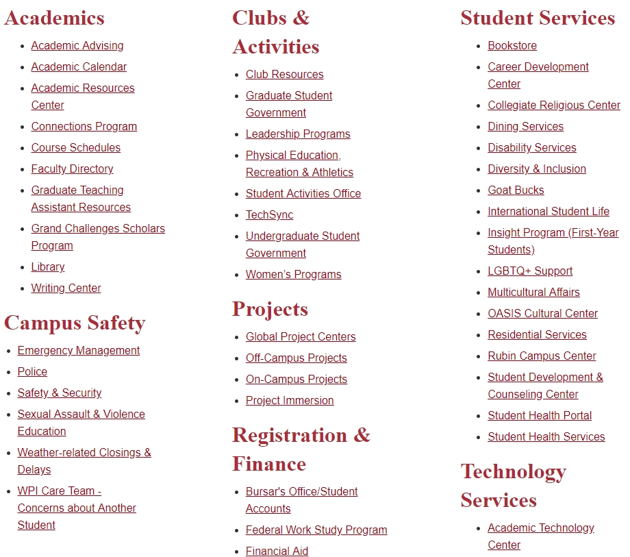 Bad Design. Wpi'S Website Was Built To Accomplish… | with Undergraduate Calendar Wpi Graphics