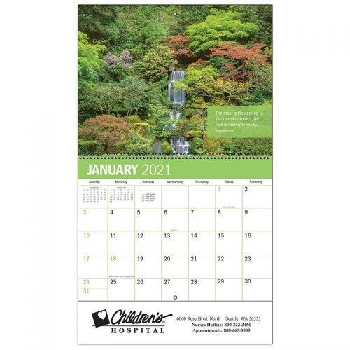 Custom Printed Inspiration Spiral Wall Calendars pertaining to Short Time Calendars For Retirement