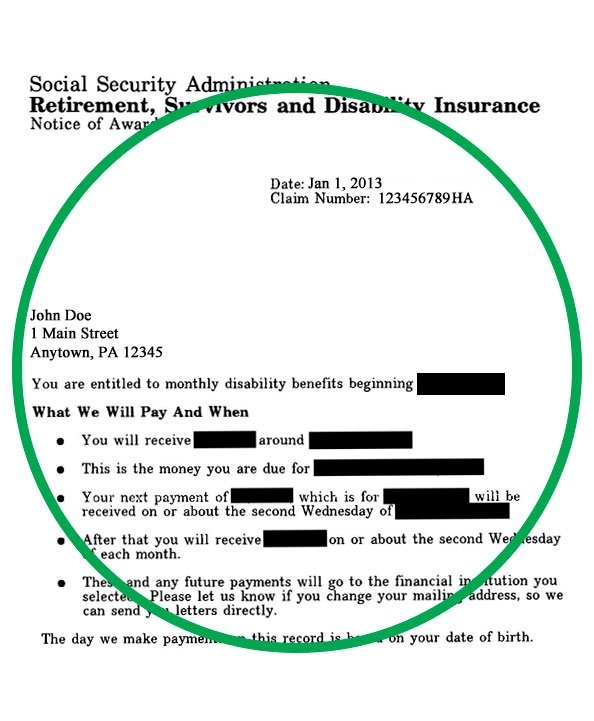 How Do I Prove I'M Permanently Disabled? | Usgs Store regarding Social Security Award Letter Online